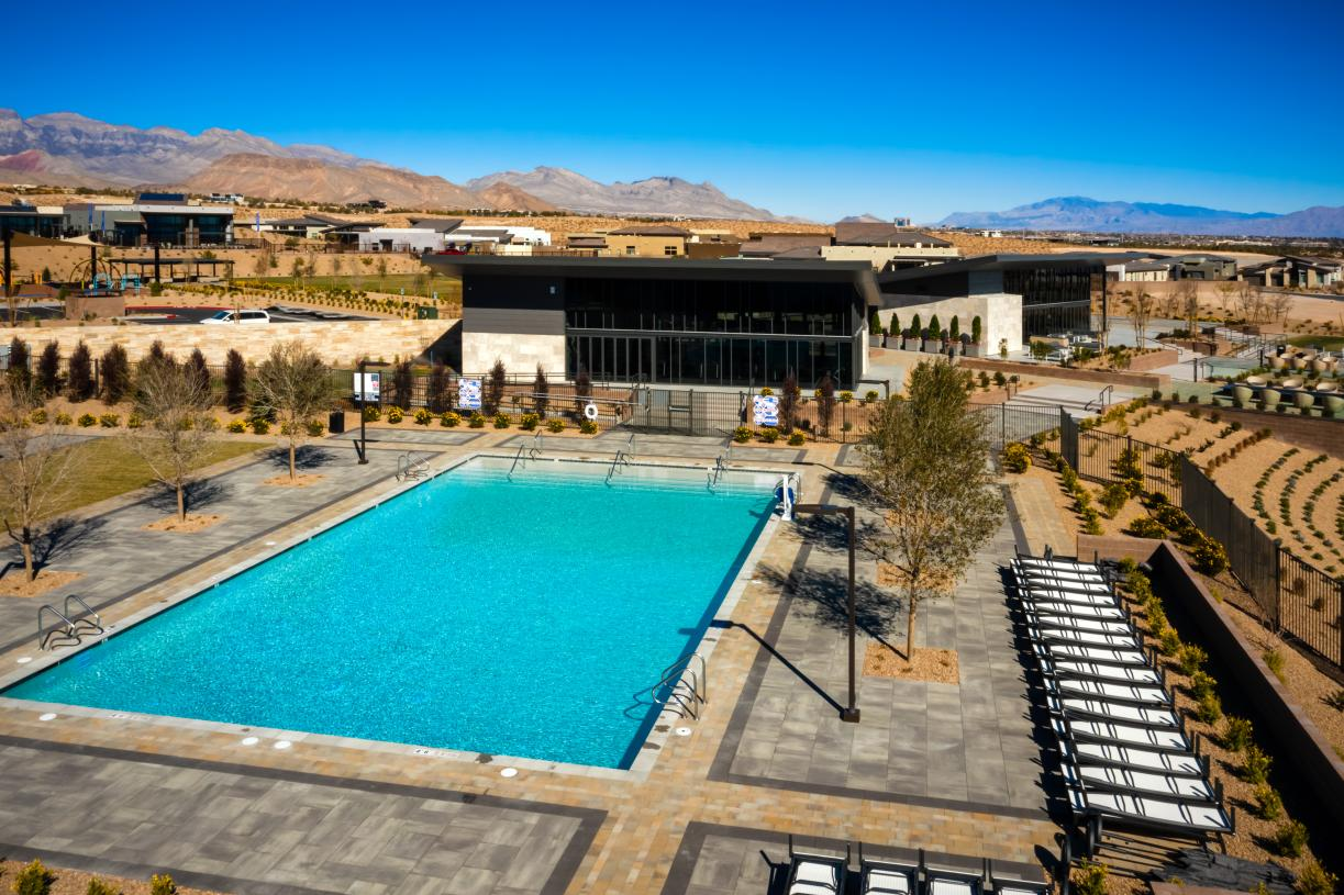 Cool off in the resort-style swimming pool