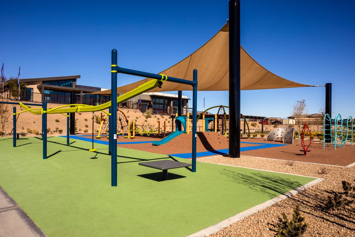Climb, zipline, and have fun in the play area