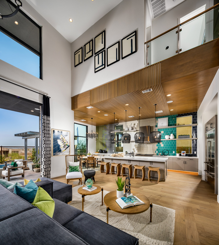 Two-story great room opens to spacious kitchen