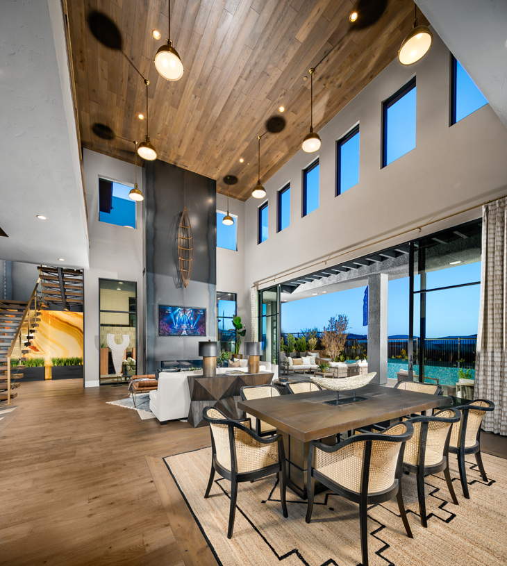 Bright and open floor plan with two-story great room