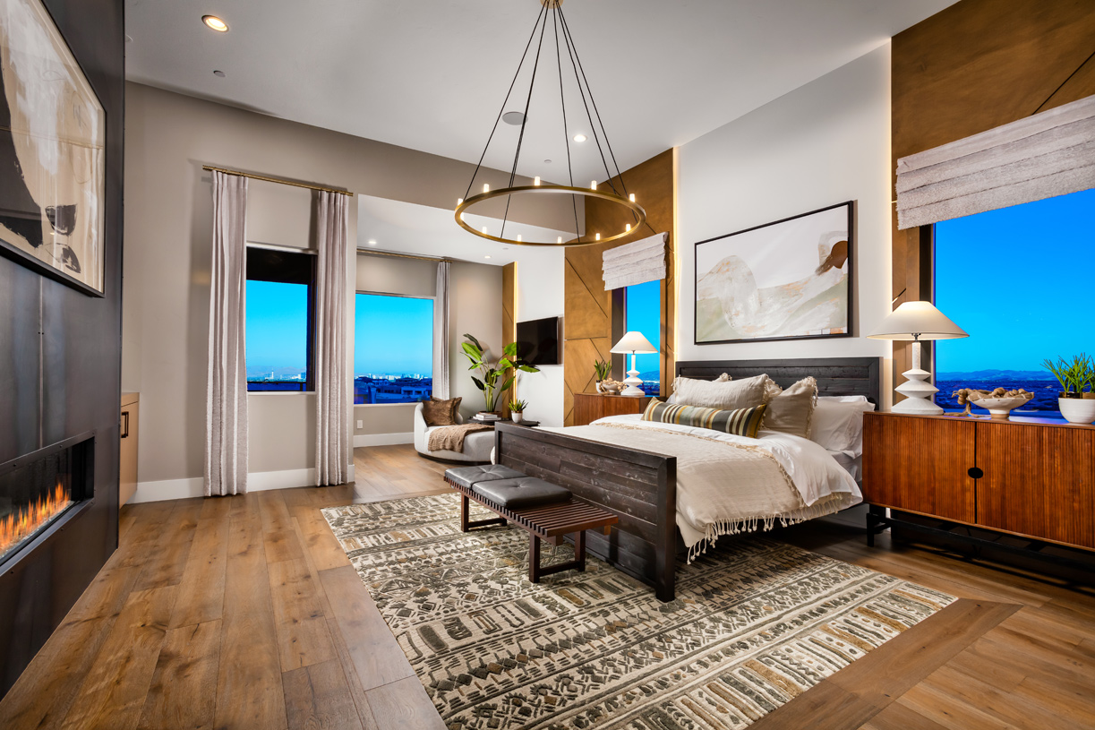 Primary bedroom suite Is complemented by a private deck