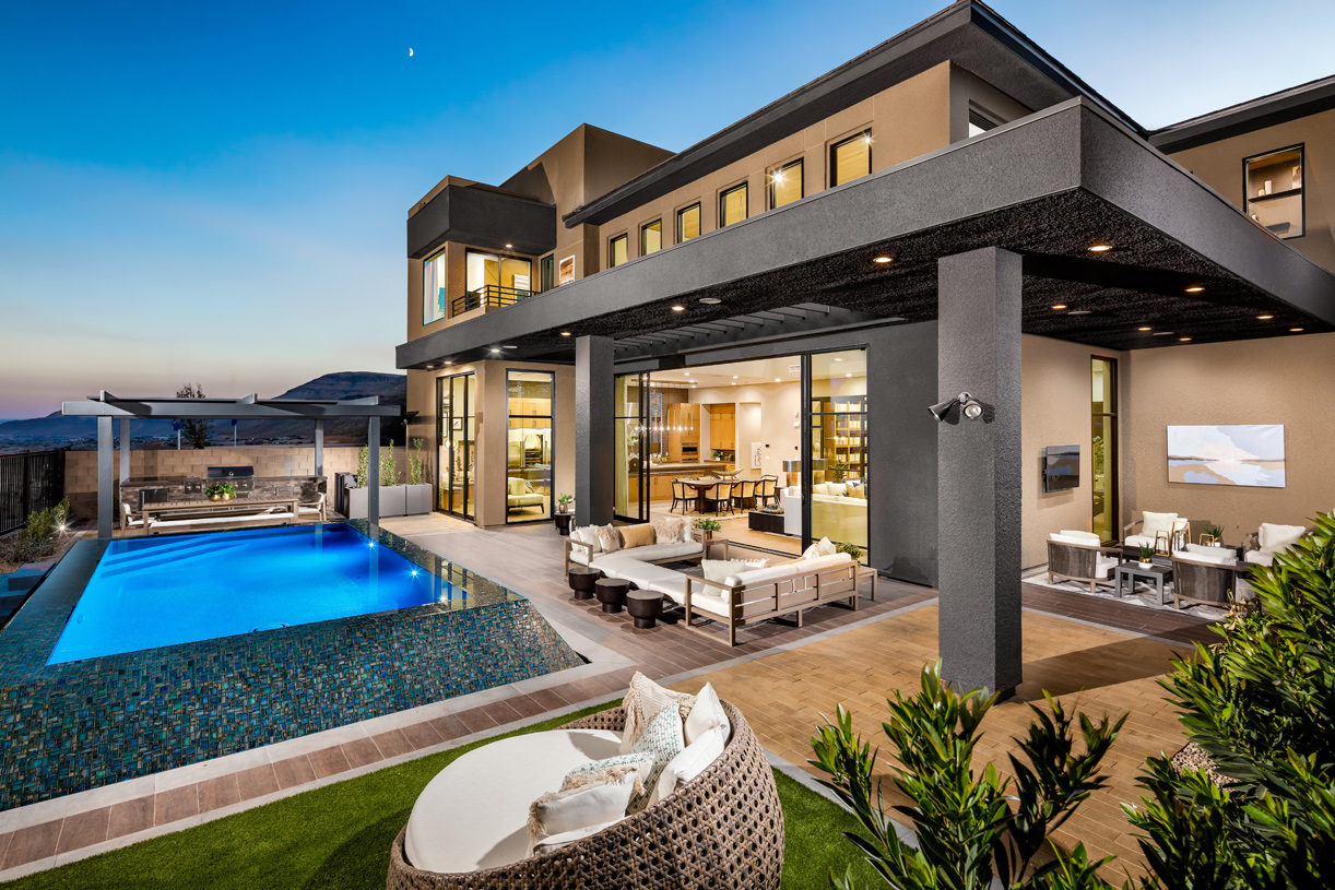 Beautiful outdoor oasis with pool