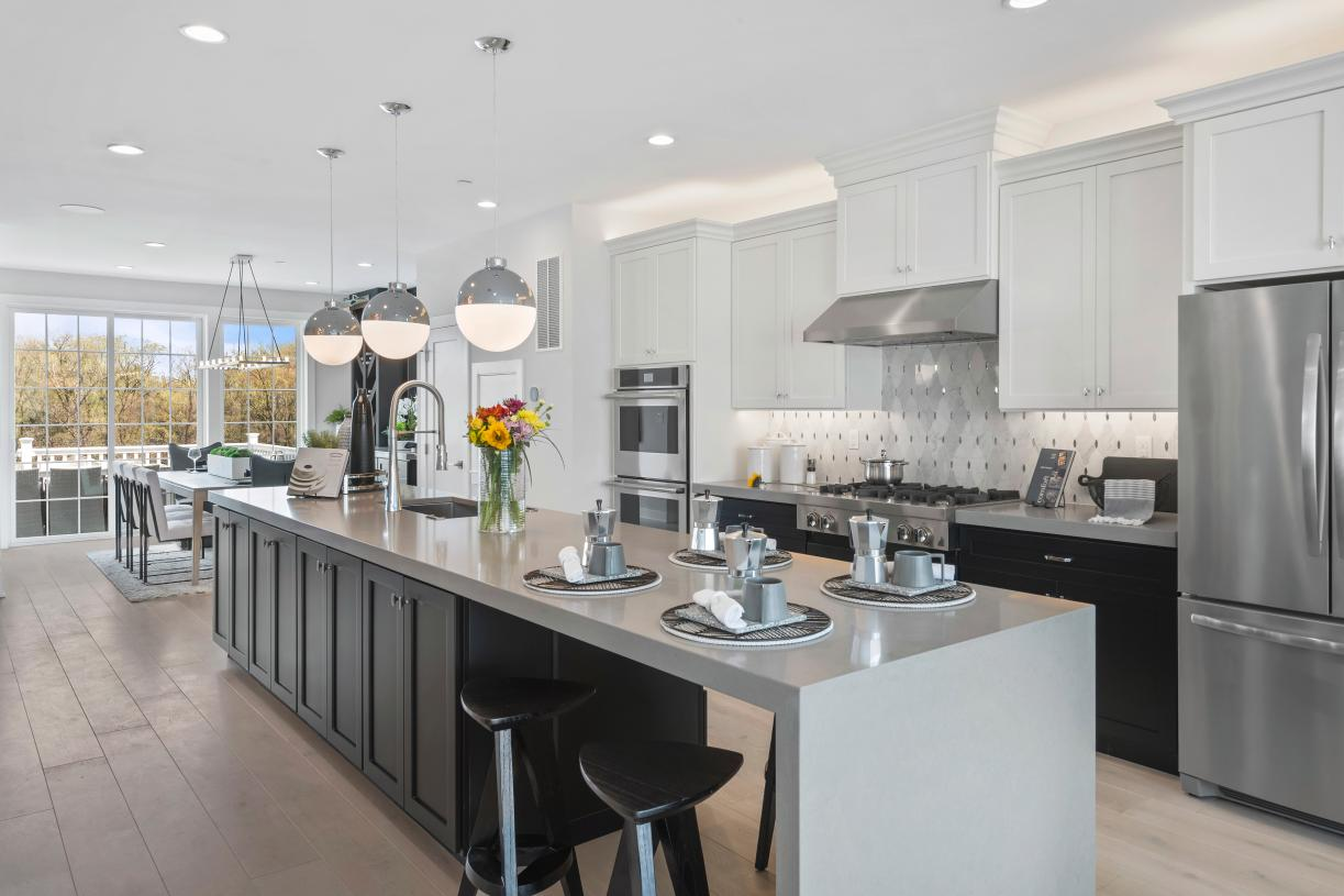 Centrally located kitchen of the Briercliff becomes the heart of the home