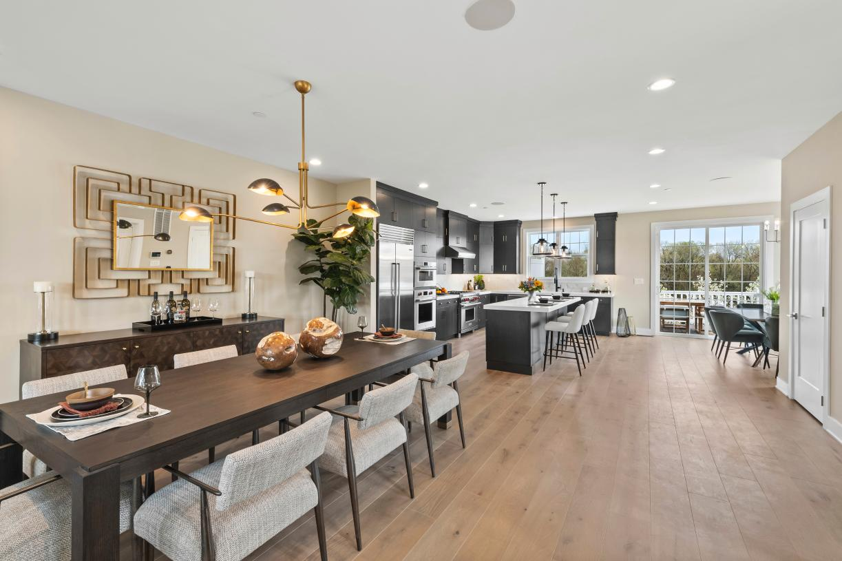Open floor plans perfect for entertaining in the Carlough