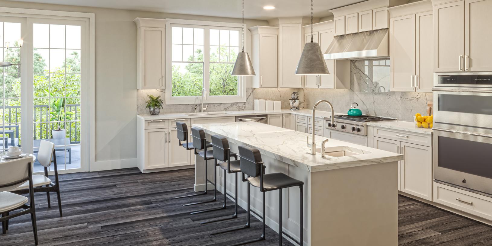 The spacious Carlough kitchen