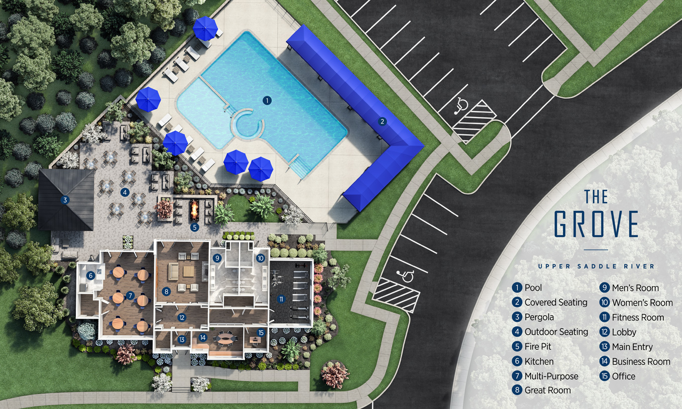 Future community clubhouse and amenities