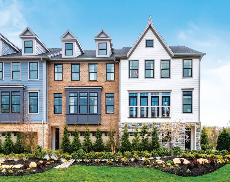 New architectural plans featuring modern, brownstone-style townhomes