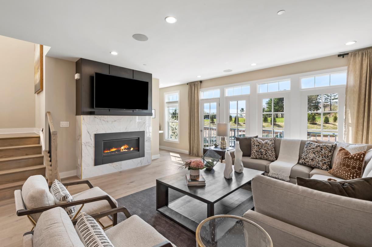 Carlough's great room and open plan is ideal for entertaining