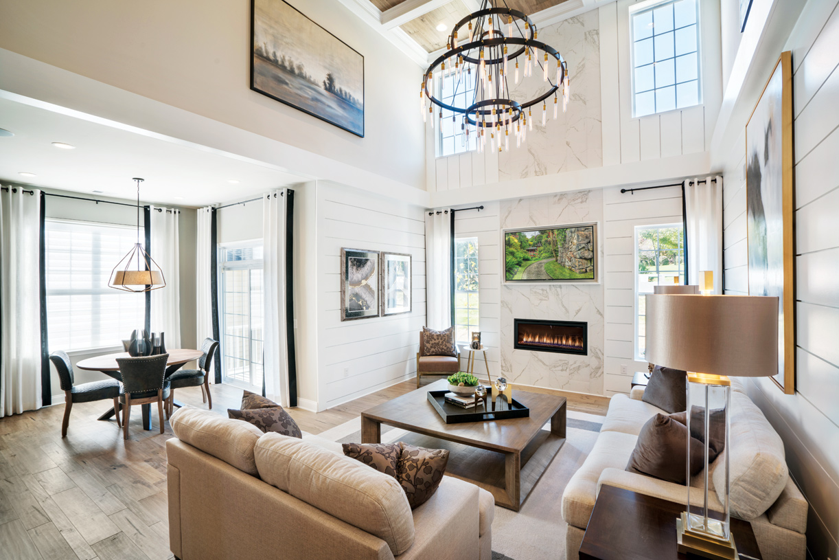 Soaring Two-Story Great Room