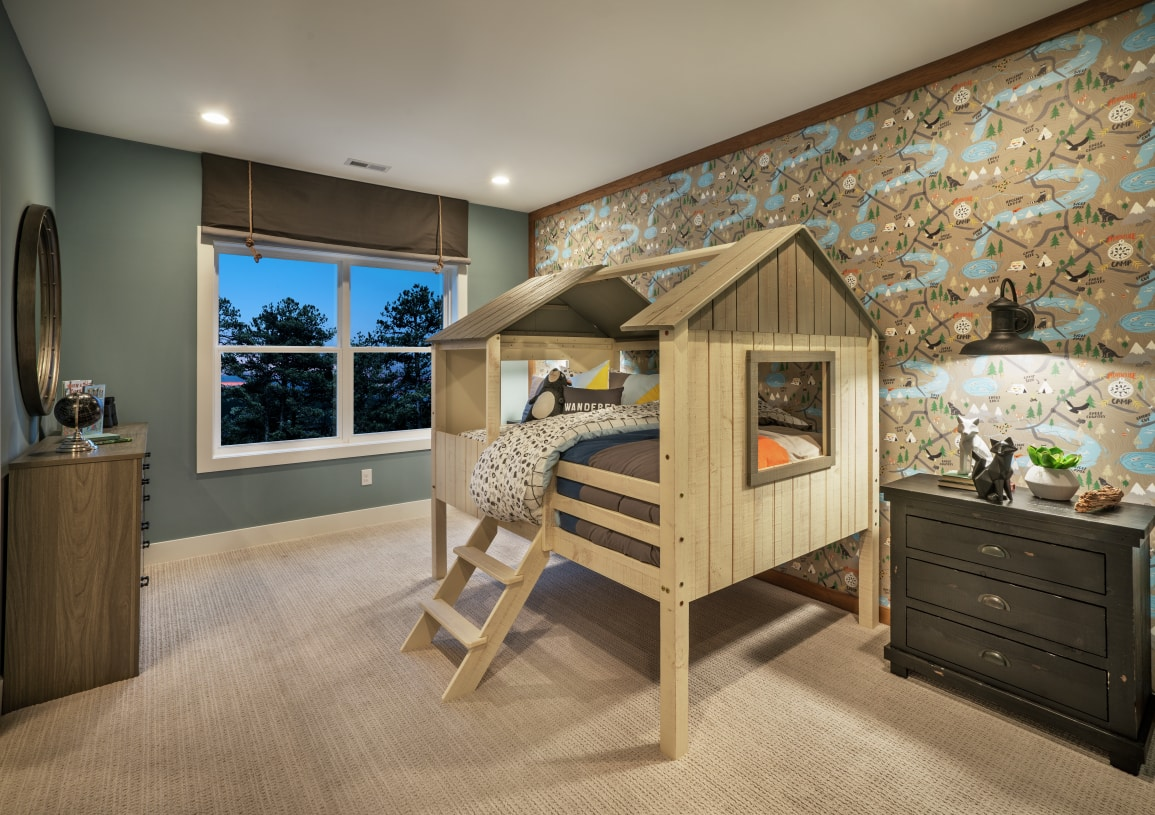 Sizeable secondary bedrooms are located on the second floor