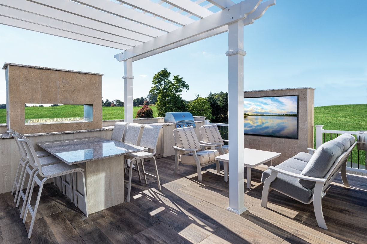 Great for dining and entertaining outside