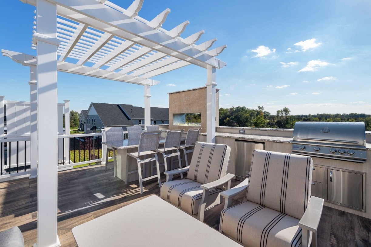 Outdoor living provides a perfect place to entertain