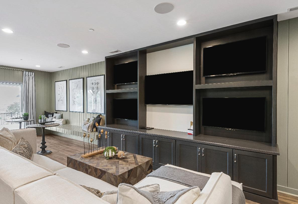 Finished basement provides additional living space