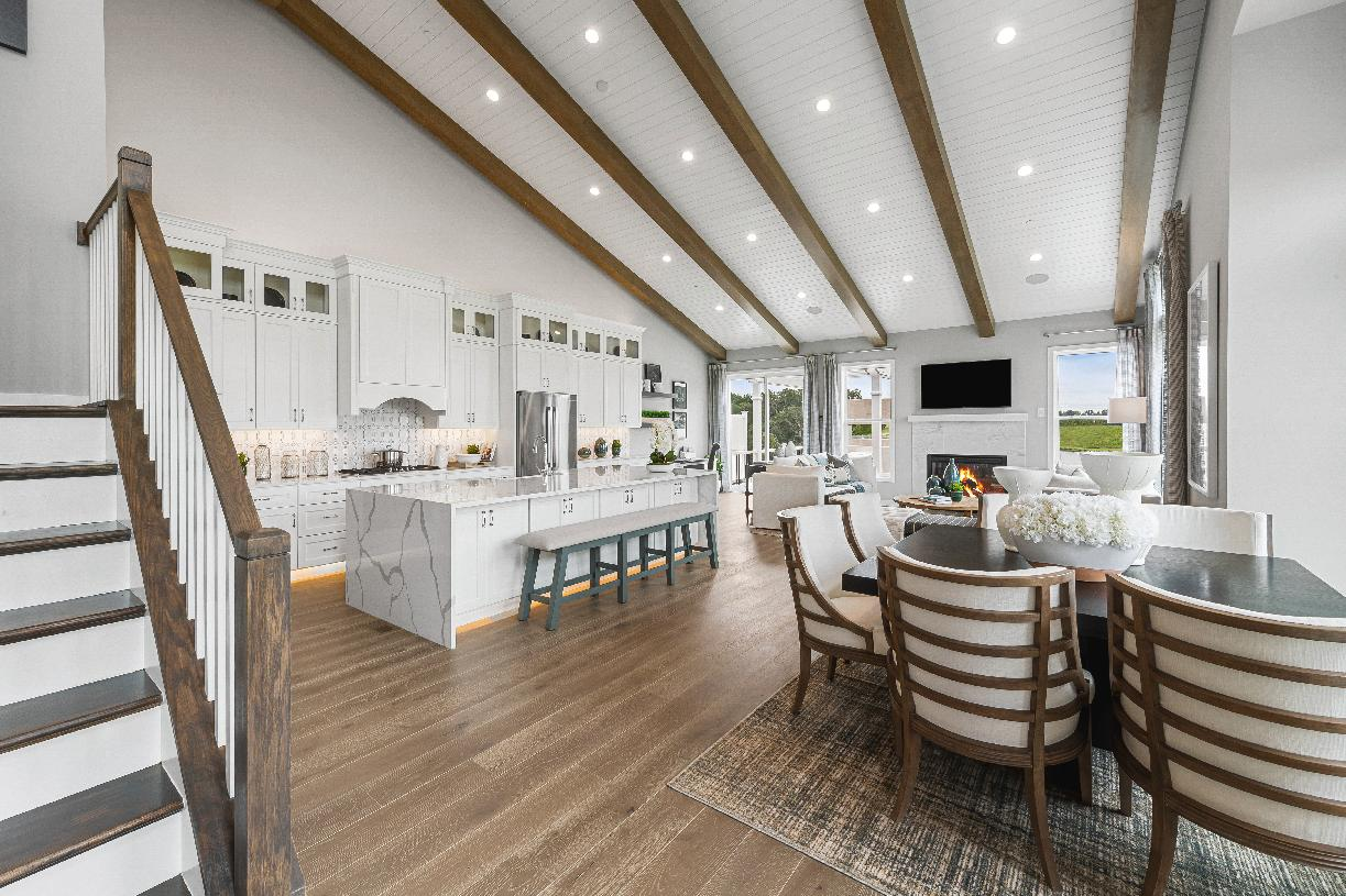 Welcome foyer opens to kitchen and casual dining area