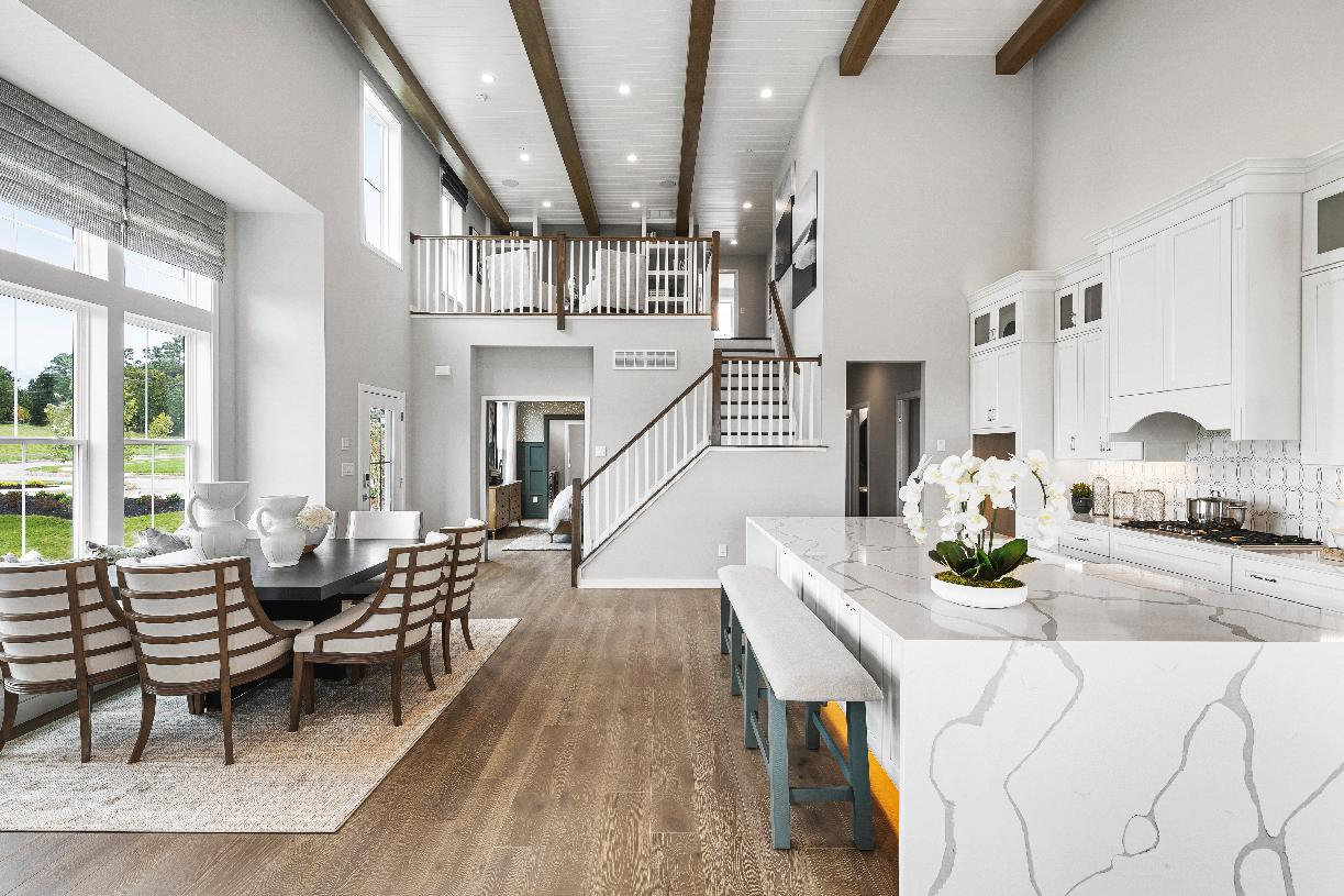 The Belliotti features soaring ceilings