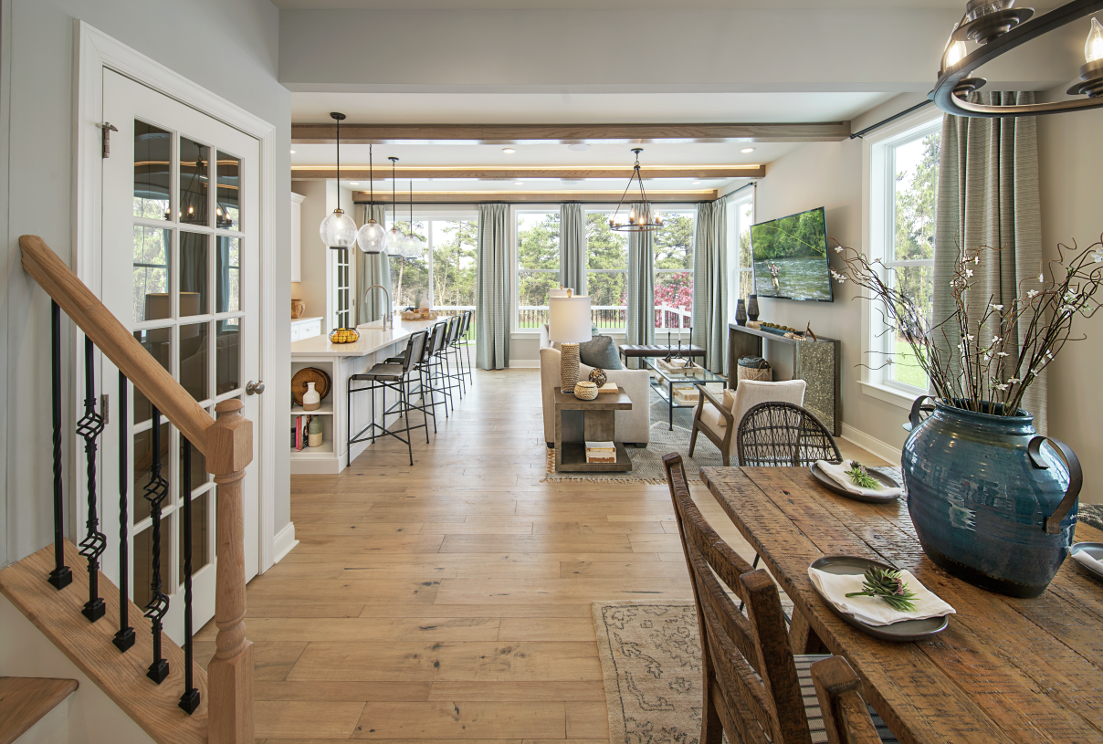 Open-concept design great for casual living
