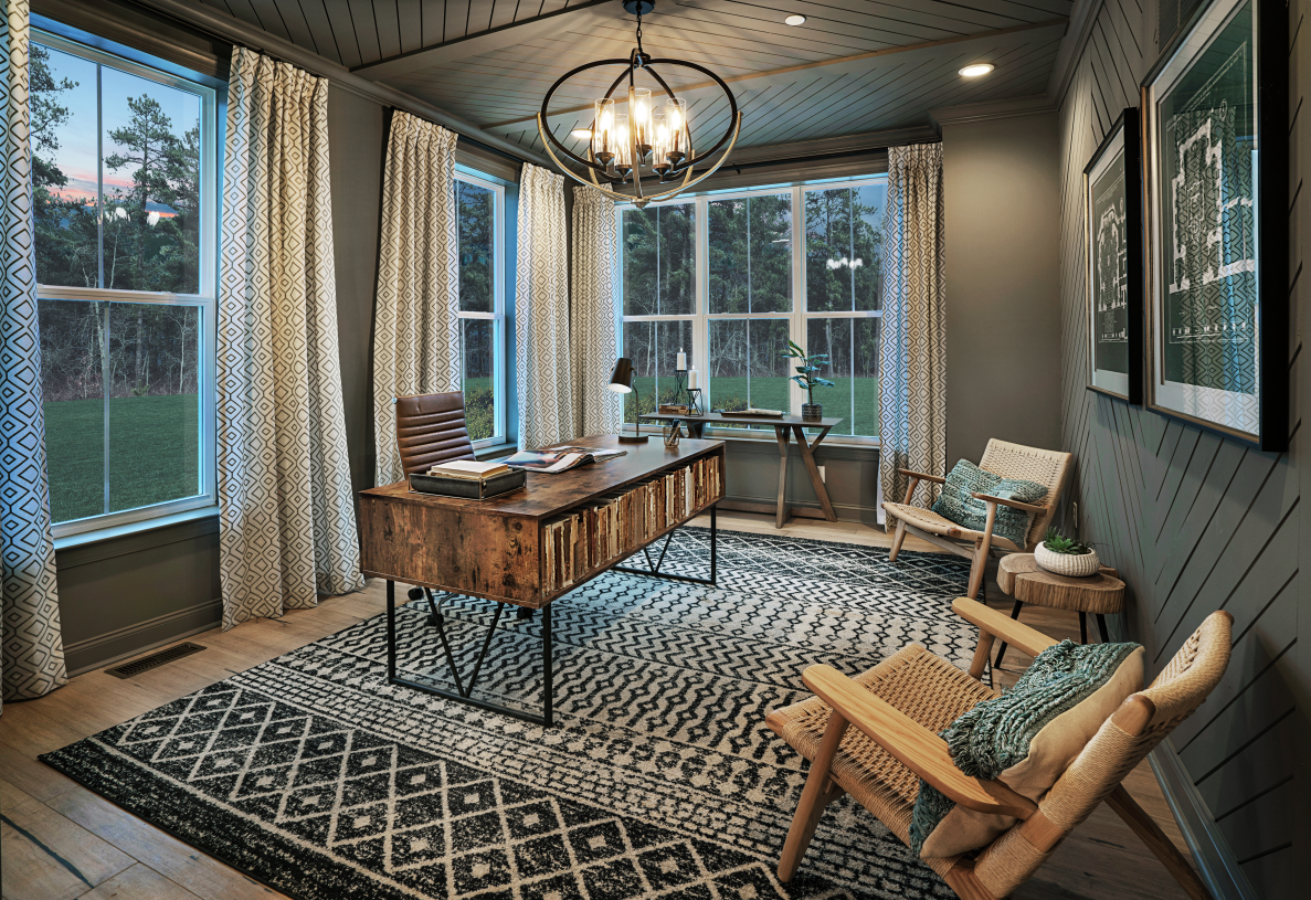 First-floor flex Space, perfect for a home office