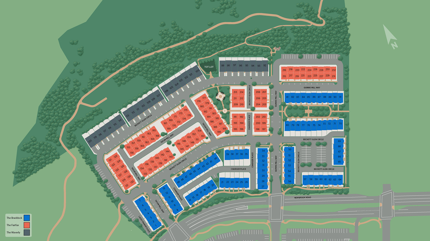 Commonwealth Place at Westfields Overall Site Plan