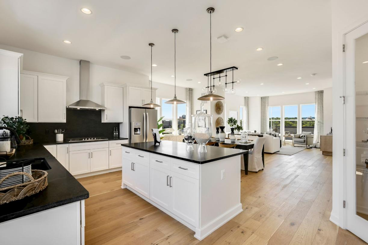 Willard kitchen, dining, and great room