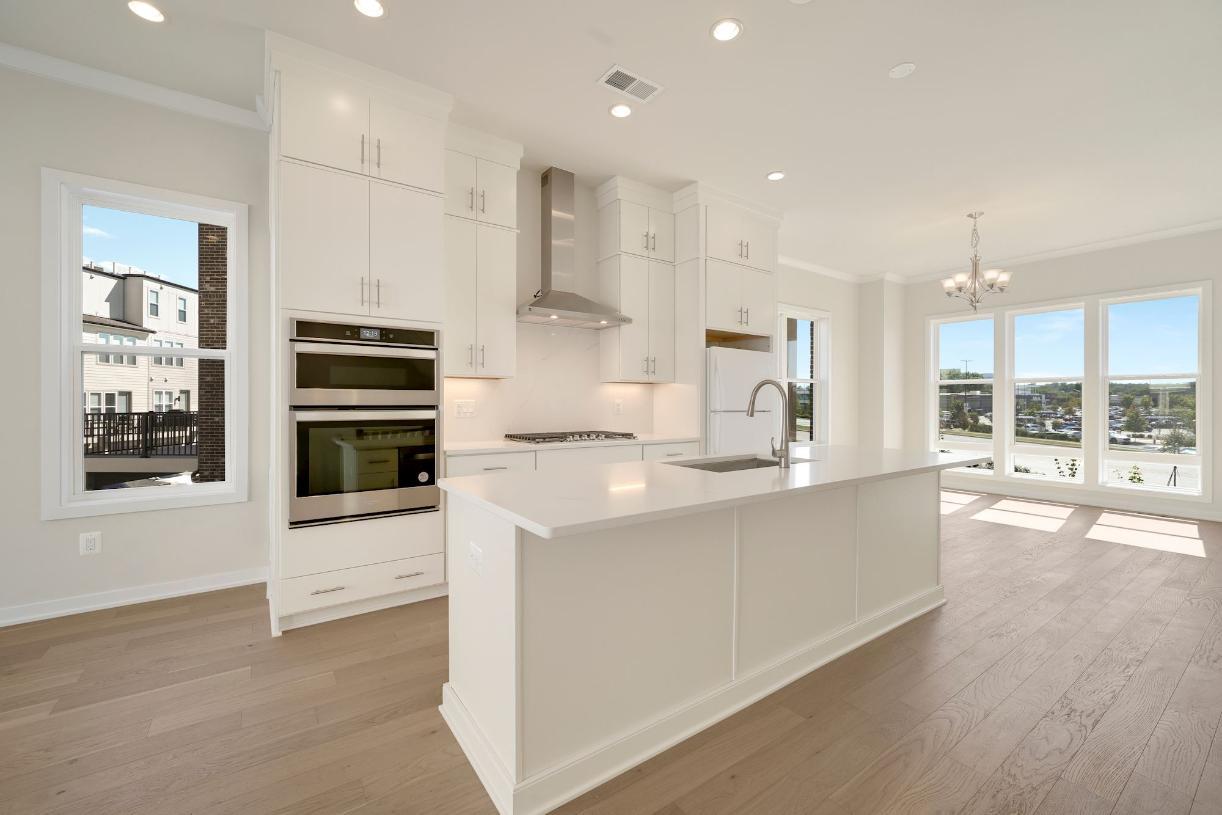 Kitchen with temporary fridge