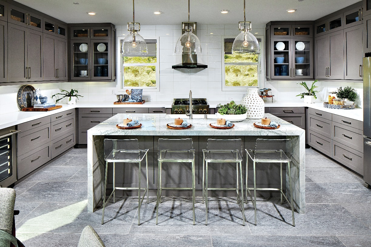 Beautiful kitchen with pantry