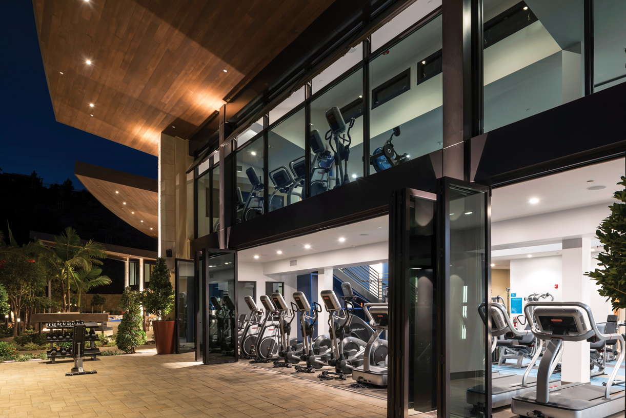 Fitness room for residents to enjoy