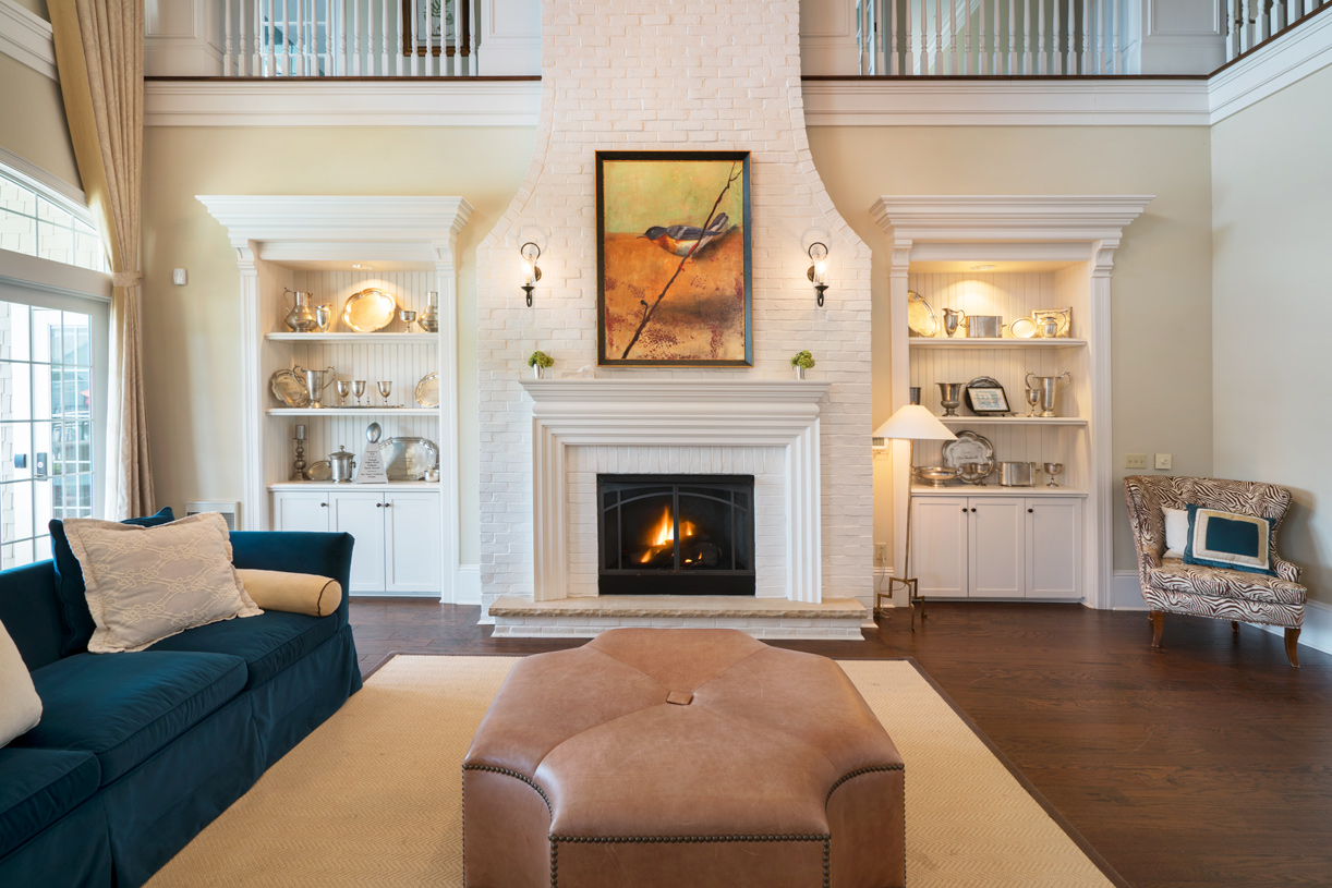 Gas Fireplace in Clubhouse Great Room