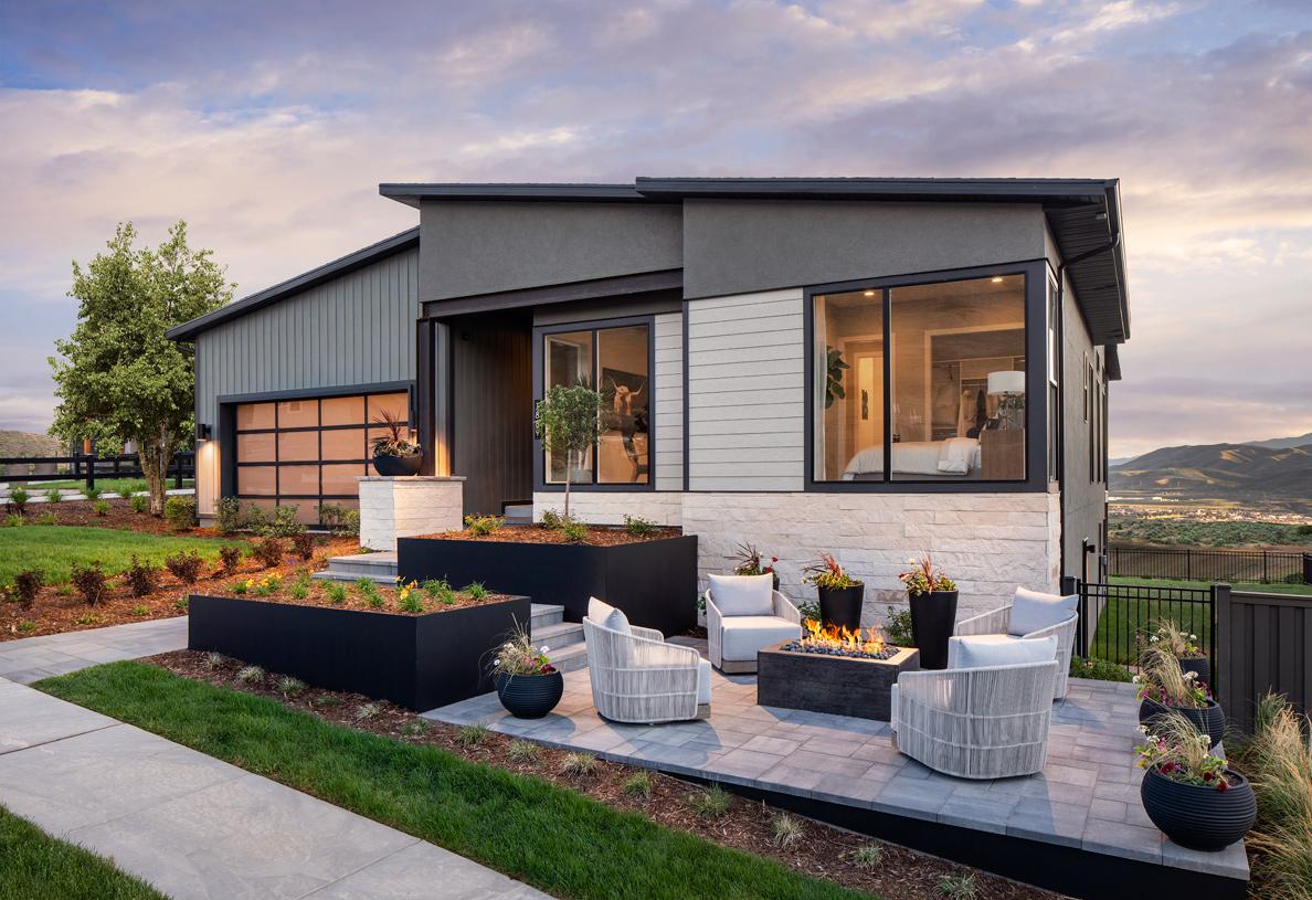 Outdoor sitting area Ashton home design