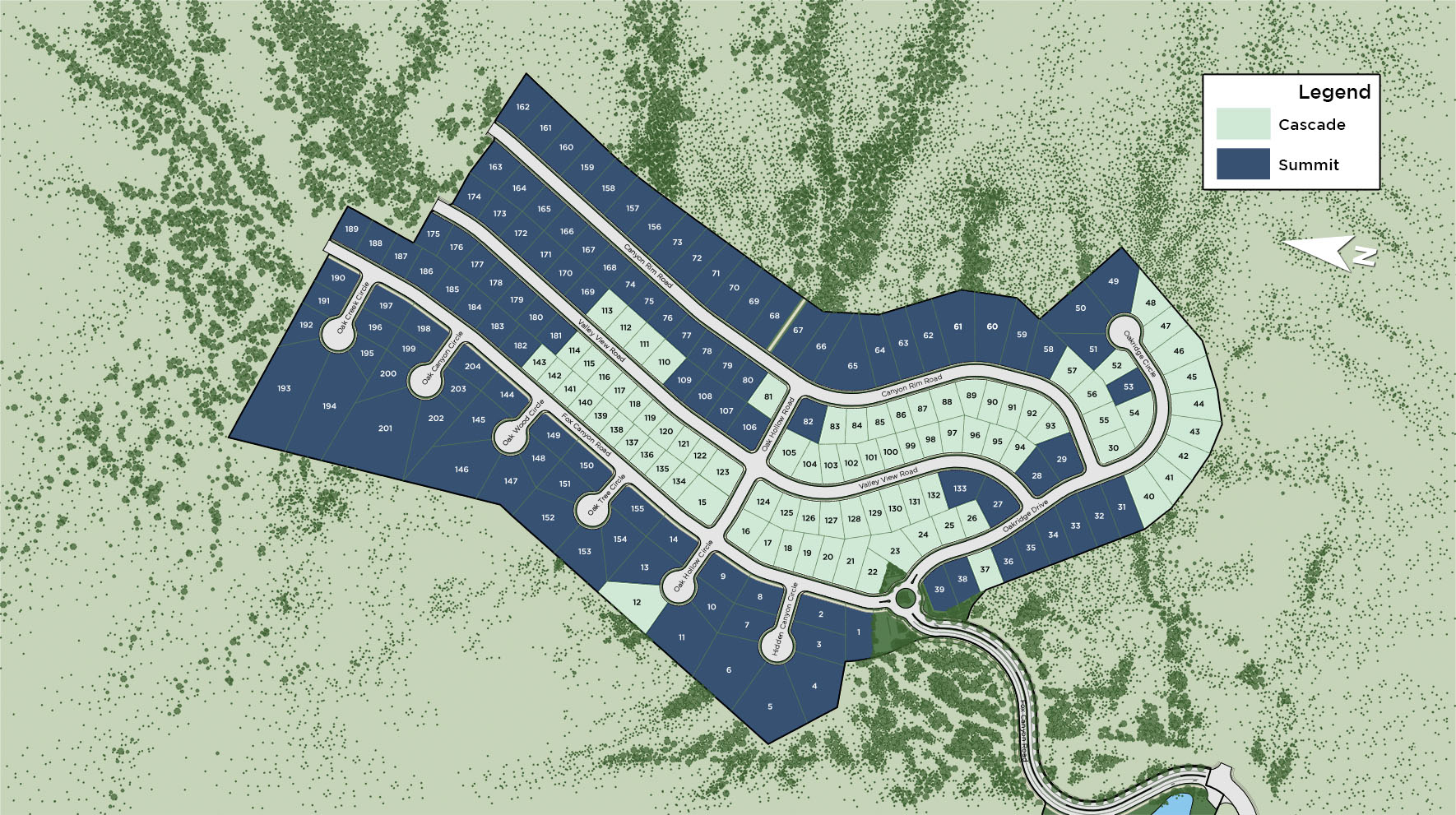 Canyon Point at Traverse Mountain Overall Site Plan
