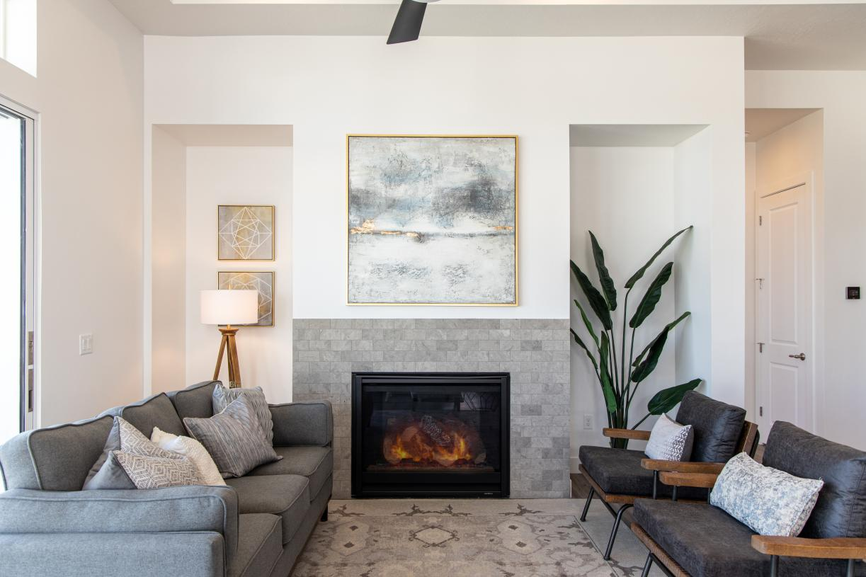 Cozy great rooms with optional fireplaces
