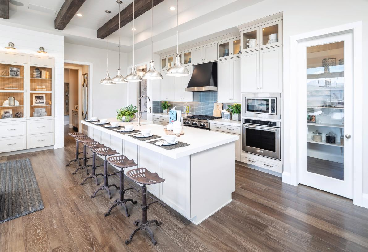 Stunning gourmet kitchens with large center islands