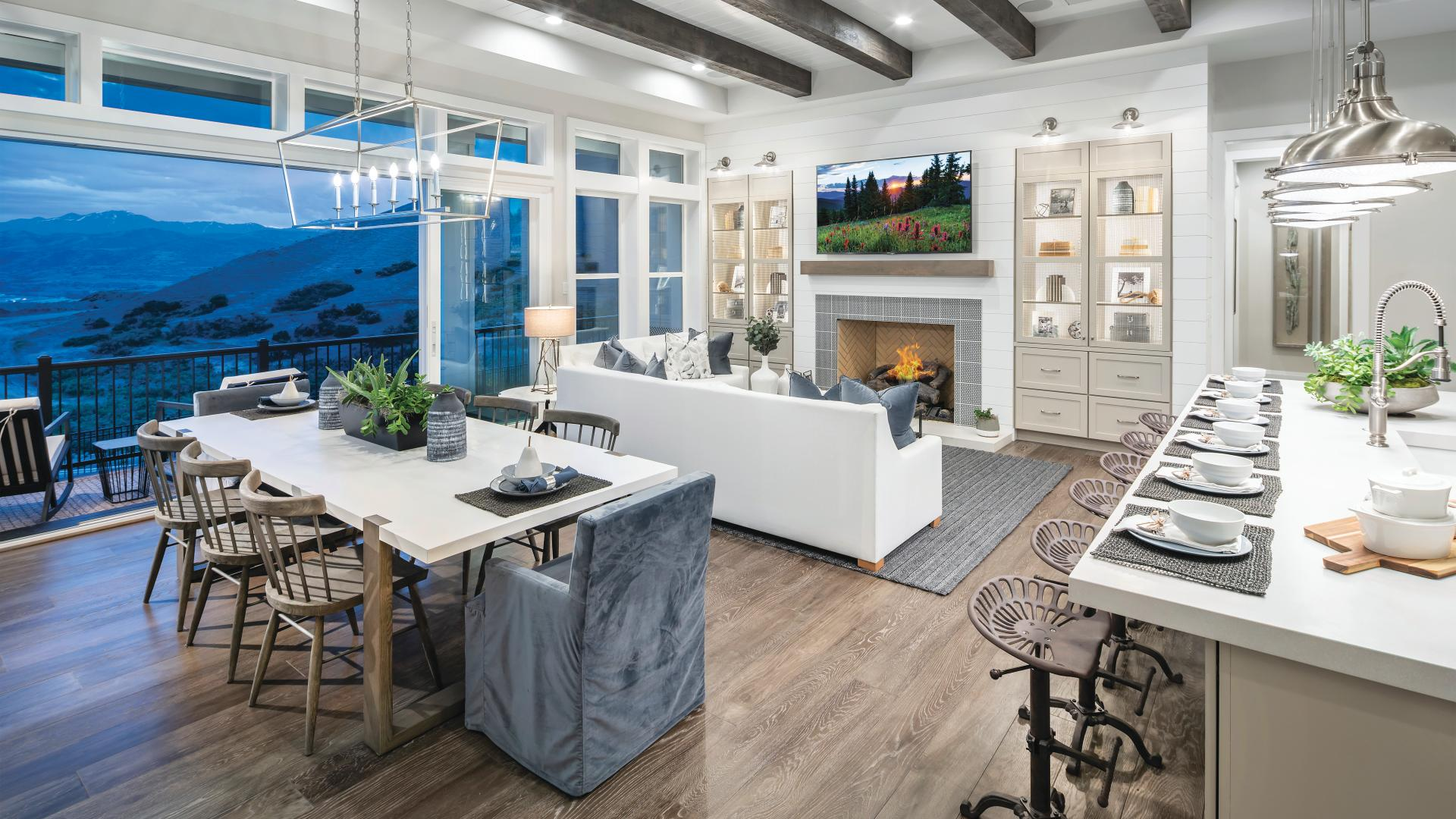 Beautiful great rooms with multi-slide doors that bring outdoors in