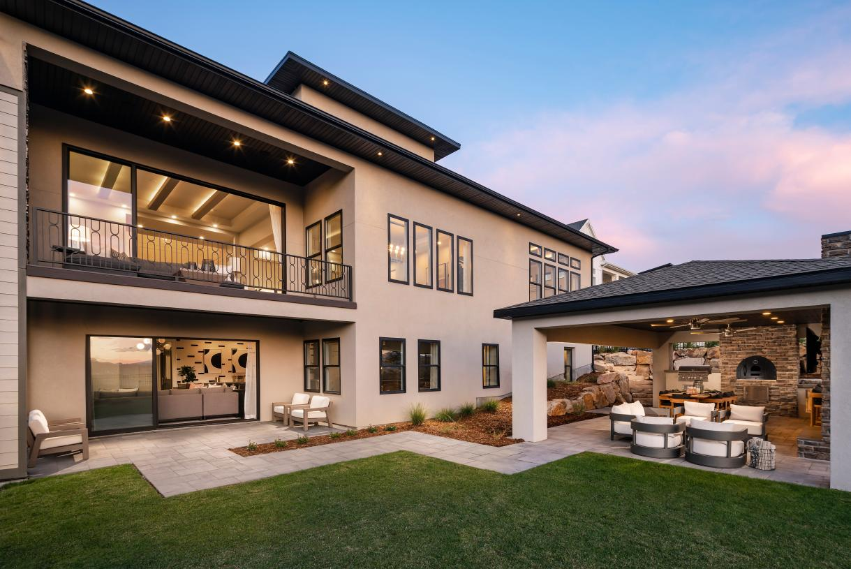 Gorgeous exterior living spaces for outdoor living and entertaining
