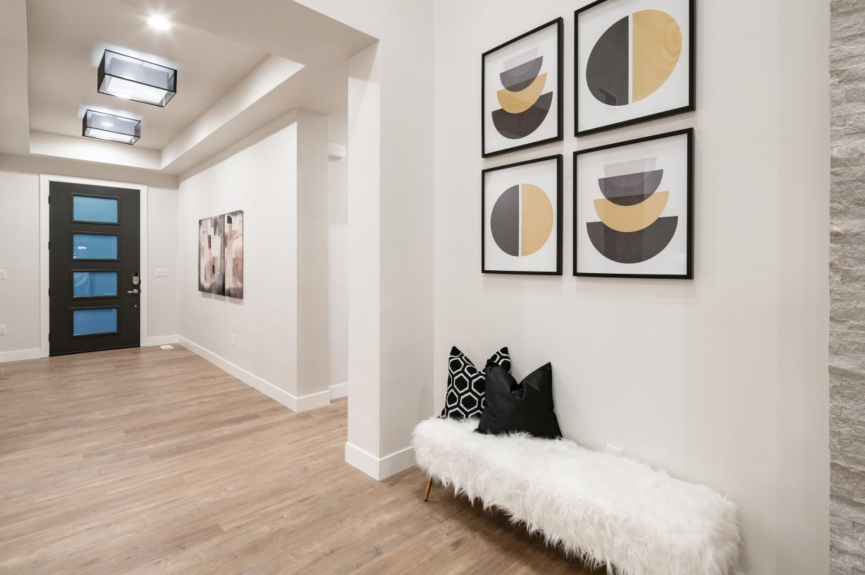 Spacious foyers that lead to an open-concept floor plan