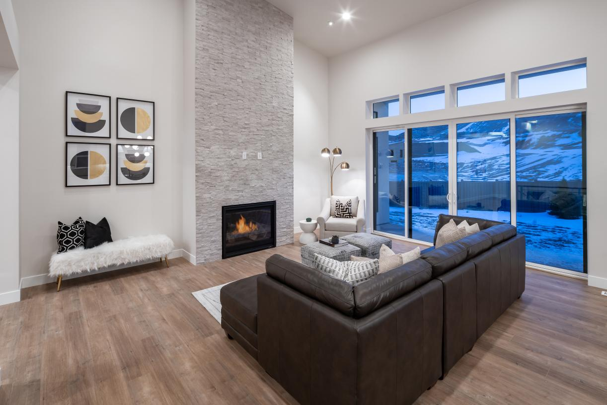 Beautiful great rooms with optional fireplaces and sliding glass doors that bring the outdoors in