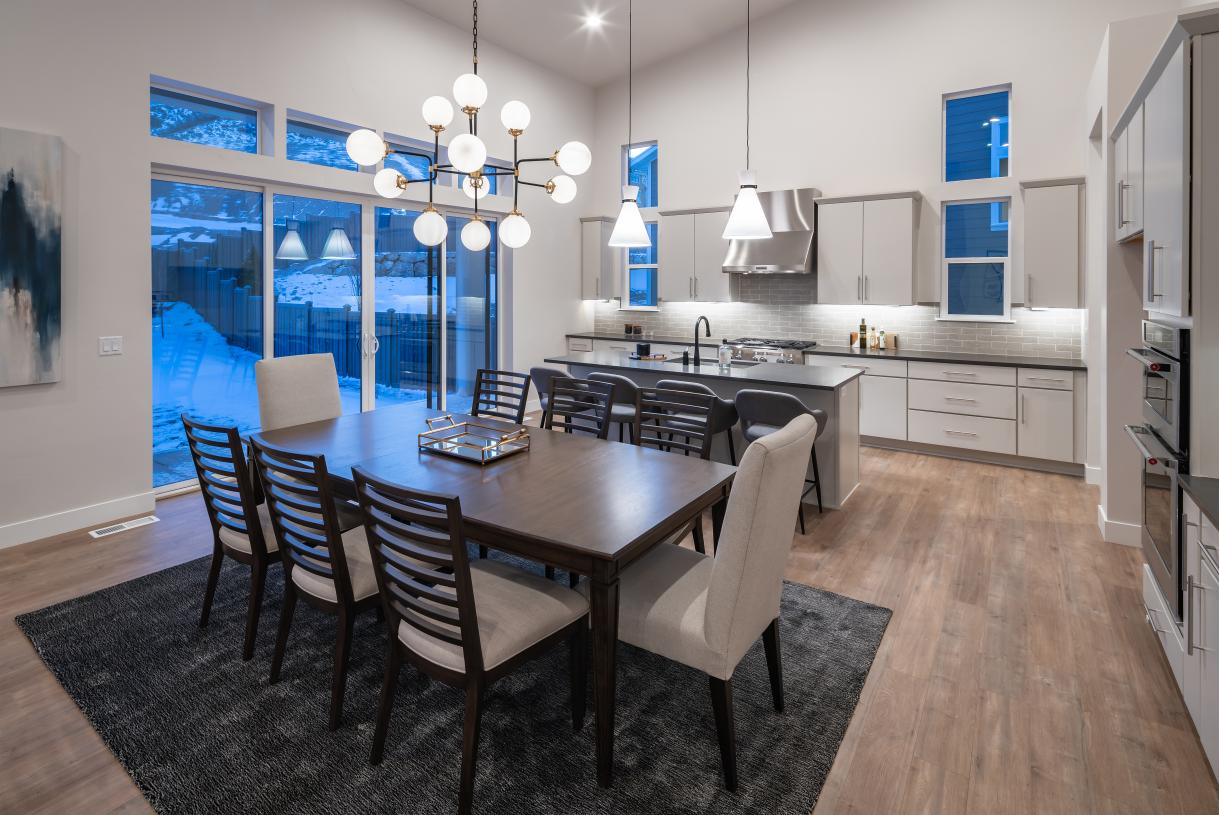 Casual dining area adjacent to the kitchen for cozy dining