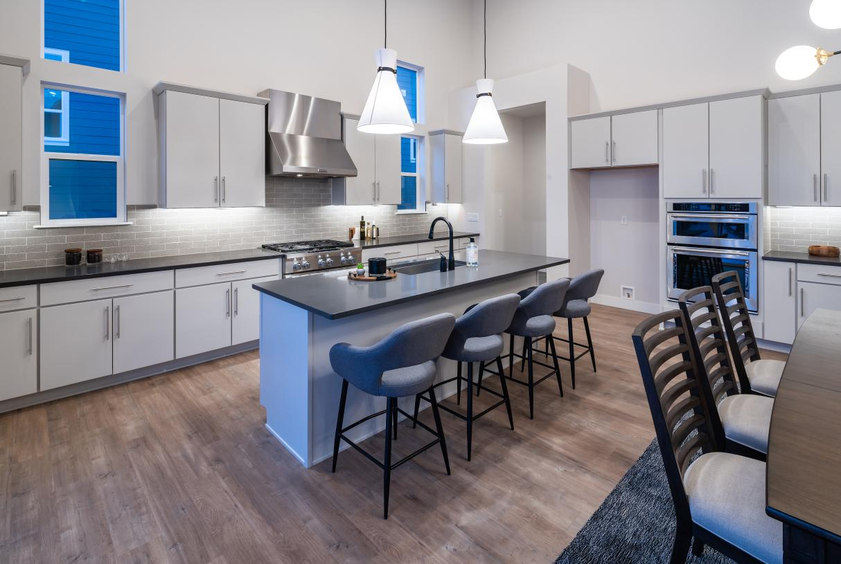 Large kitchen with ample cabinet and countertop space