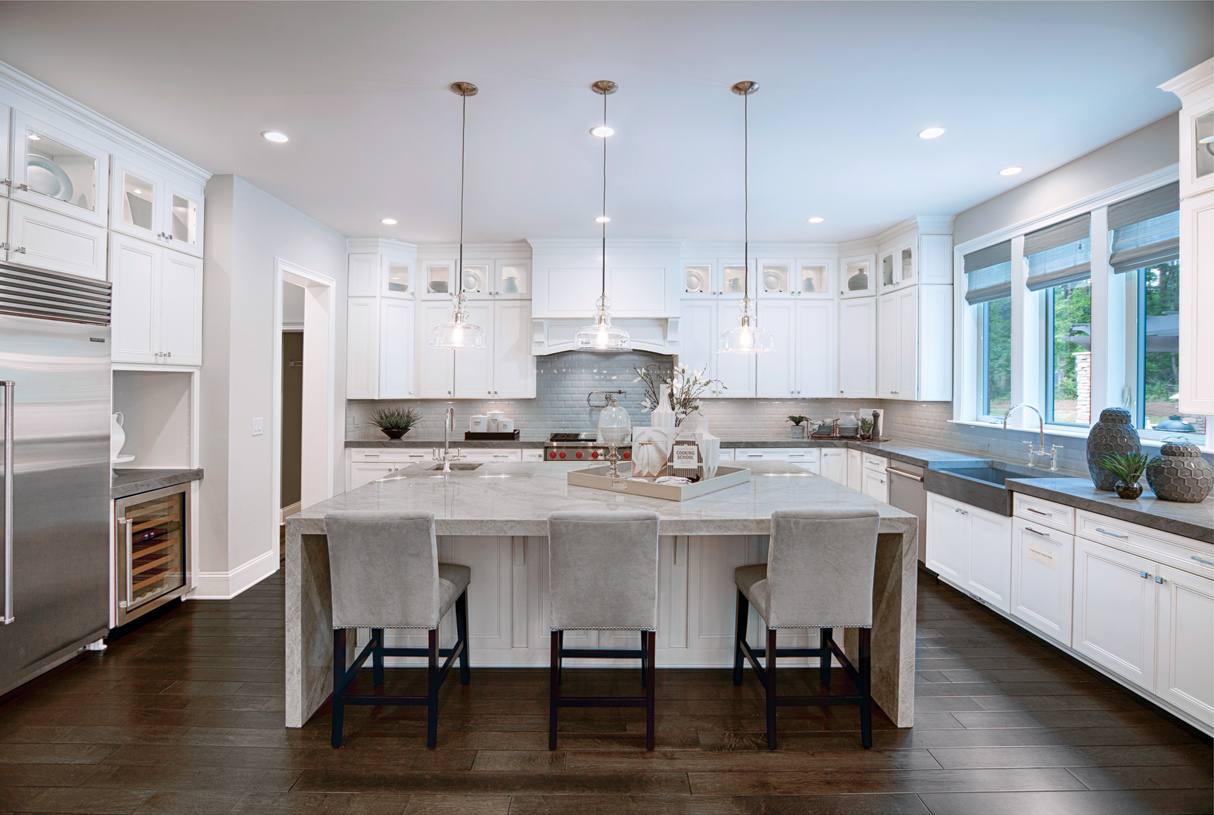 Beautiful kitchens with massive islands ideal for entertaining