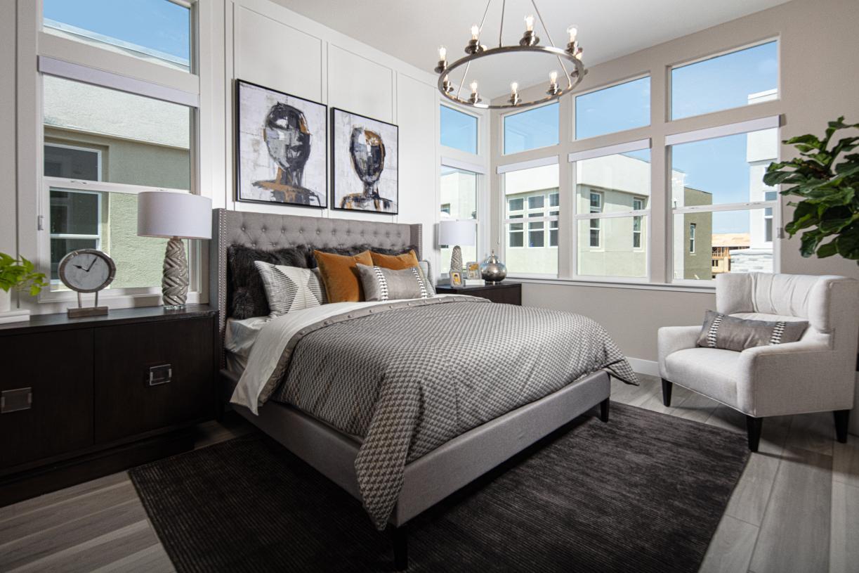 Luxurious primary bedroom retreats