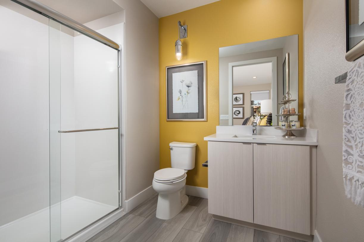 Three and a half bathrooms with beautiful finishes
