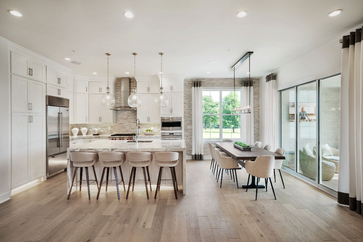 Spacious kitchen with casual dining area