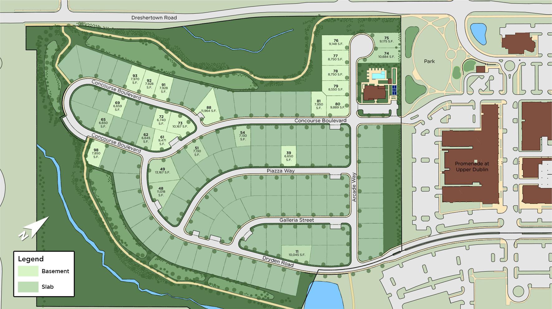 Enclave at The Promenade Site Plan