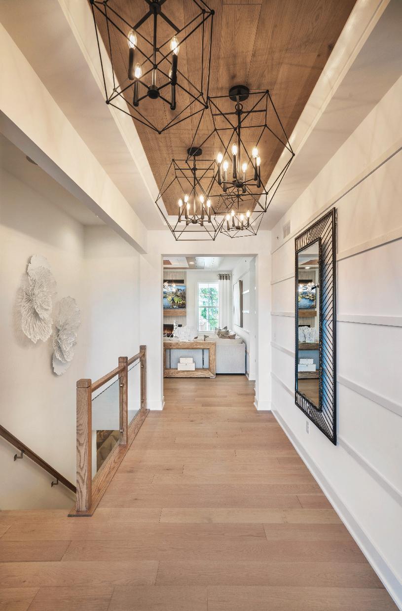 Elegant foyer with tray ceiling