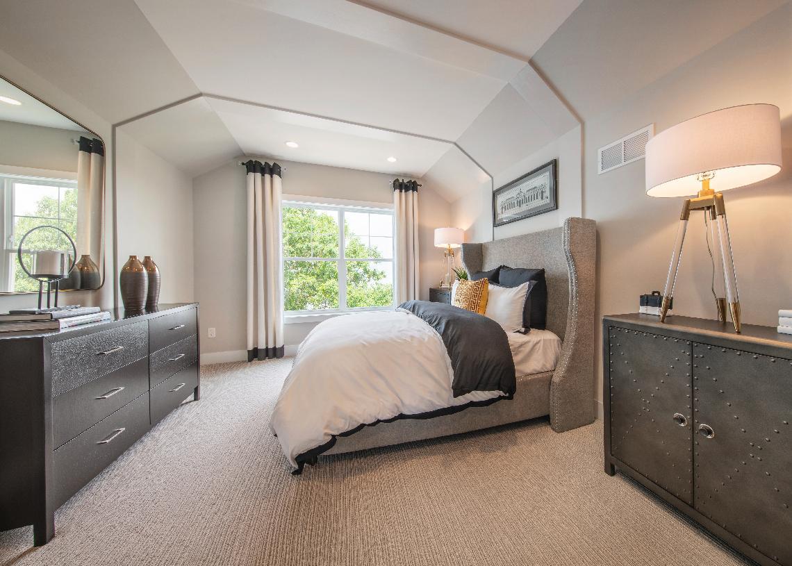 Guest bedrooms located on second floor