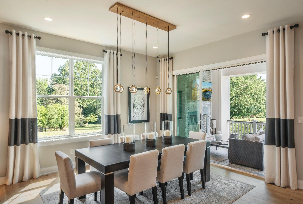 Bright casual dining area