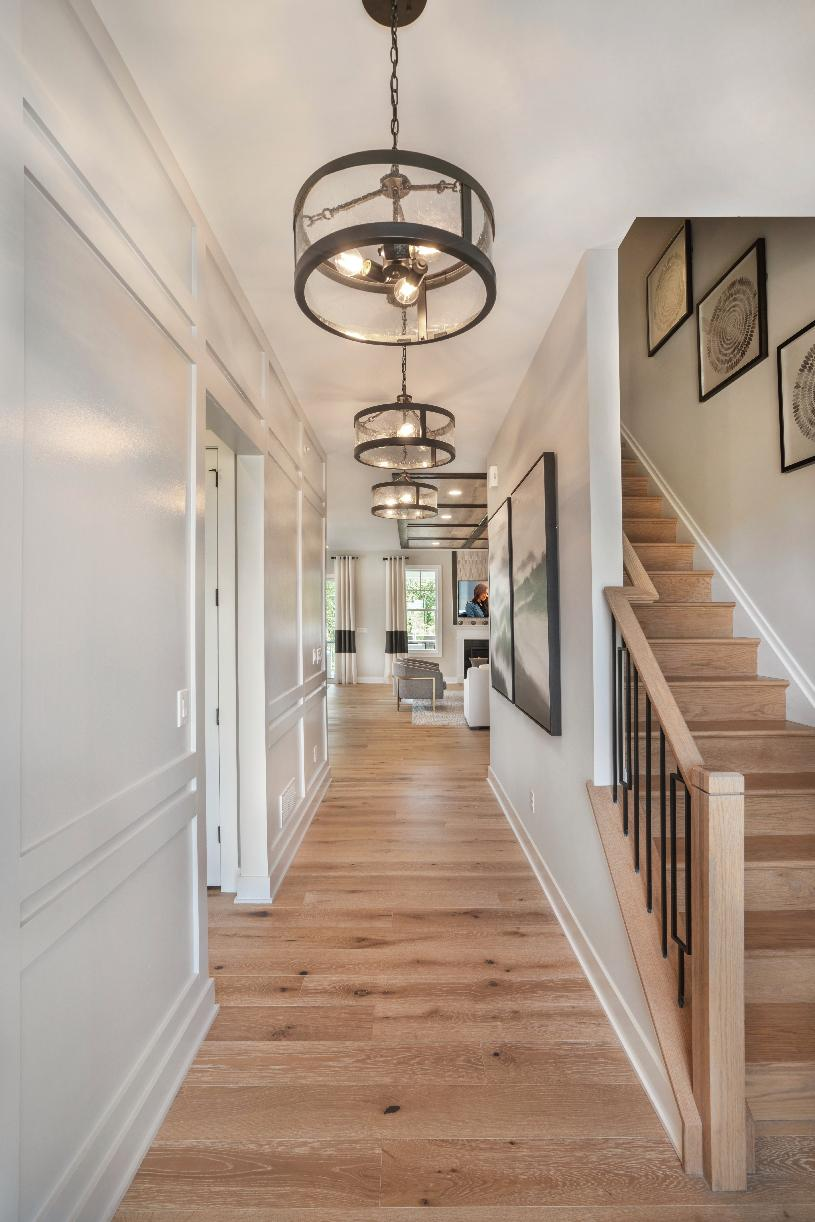 Inviting foyer leads to open living area