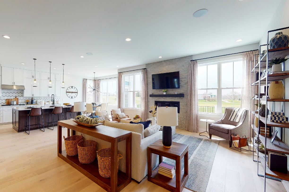 Open-concept kitchen and great room provide the ideal space for entertaining