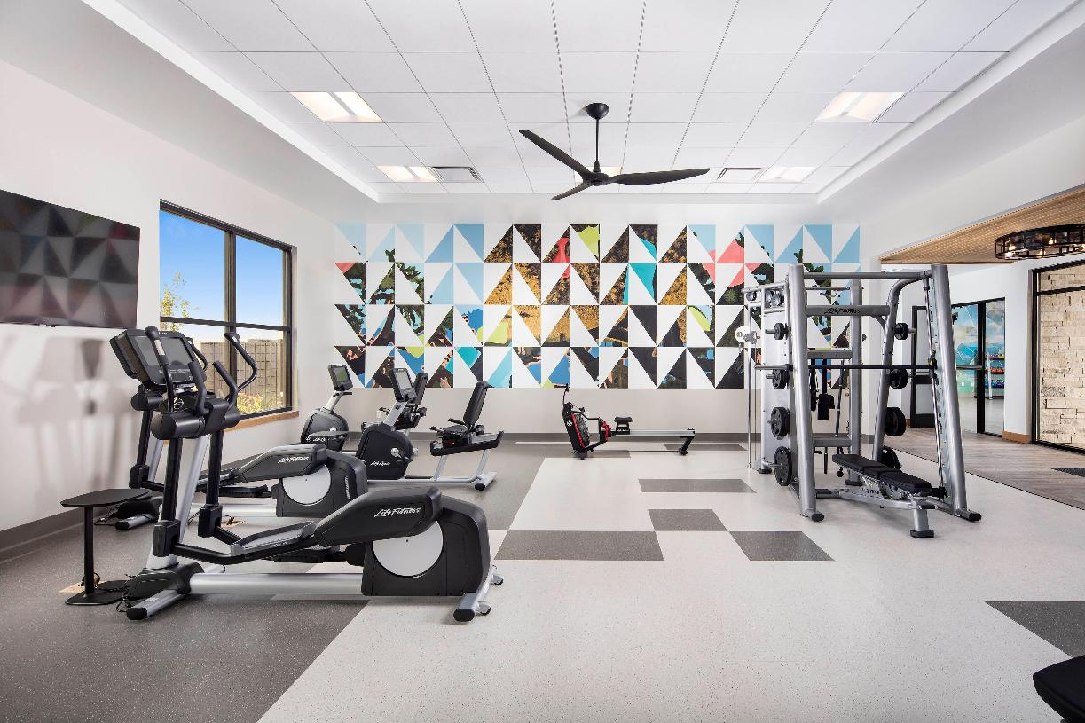 Enjoy the on-site fitness center with cardio room and movement studio