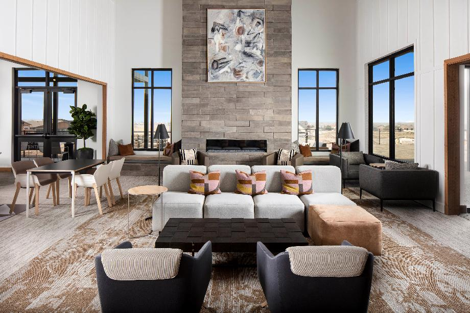 Gather with friends and neighbors in the 18,000-square-foot luxury clubhouse