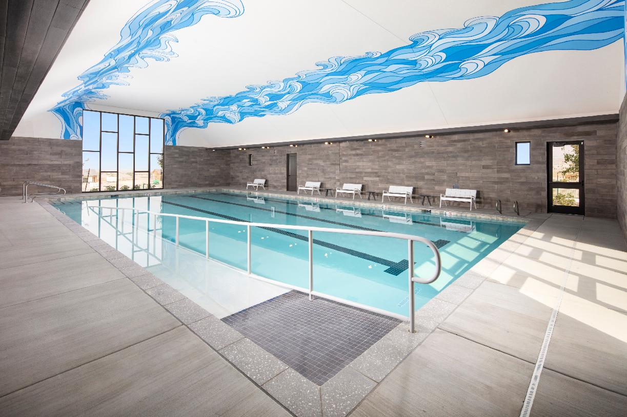 Stay fit year round in the indoor pool
